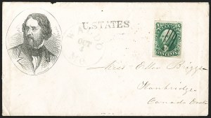 Sale Number 1205, Lot Number 2024, 1851-57 Issues10c Green, Ty. III (15), 10c Green, Ty. III (15)