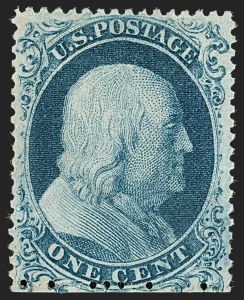 Sale Number 1205, Lot Number 2026, 1851-57 Issues1c Blue, Ty. Ia (19), 1c Blue, Ty. Ia (19)