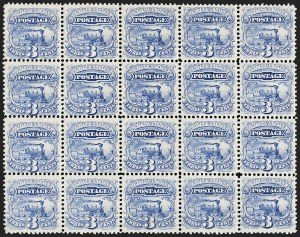 Sale Number 1205, Lot Number 2041, 1869 Pictorial Issue3c Ultramarine, Split Grill (114 var), 3c Ultramarine, Split Grill (114 var)