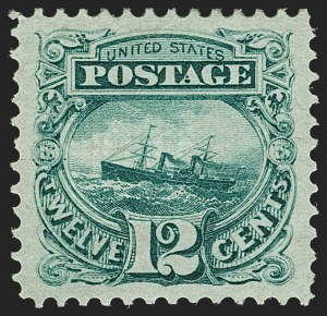 Sale Number 1205, Lot Number 2042, 1869 Pictorial Issue12c Green (117), 12c Green (117)