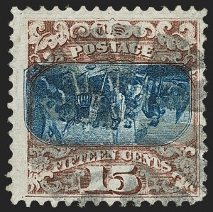 Sale Number 1205, Lot Number 2043, 1869 Pictorial Issue15c Brown & Blue, Ty. II, Center Inverted (119b), 15c Brown & Blue, Ty. II, Center Inverted (119b)