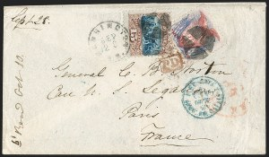 Sale Number 1205, Lot Number 2044, 1869 Pictorial Issue30c Ultramarine & Carmine (121), 30c Ultramarine & Carmine (121)