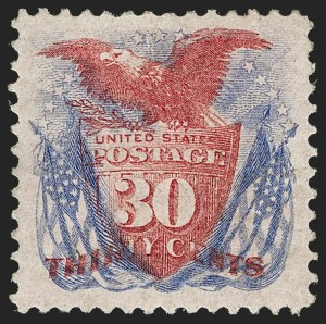 Sale Number 1205, Lot Number 2045, 1869 Pictorial Issue30c Ultramarine & Carmine, Without Grill (121a), 30c Ultramarine & Carmine, Without Grill (121a)