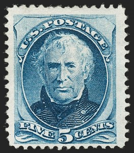 Sale Number 1205, Lot Number 2049, 1870-90 Bank Note Issues5c Bright Blue, Special Printing (181), 5c Bright Blue, Special Printing (181)