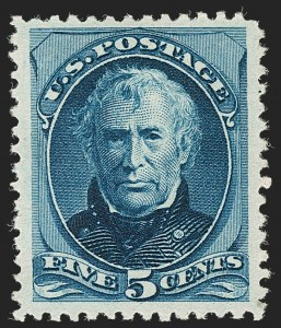 Sale Number 1205, Lot Number 2053, 1870-90 Bank Note Issues5c Deep Blue, Special Printing (204), 5c Deep Blue, Special Printing (204)