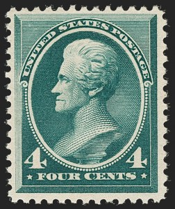 Sale Number 1205, Lot Number 2054, 1870-90 Bank Note Issues4c Deep Blue Green, Special Printing (211D), 4c Deep Blue Green, Special Printing (211D)