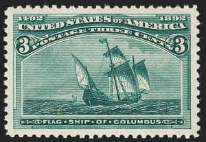 Sale Number 1205, Lot Number 2058, 1893 Columbian Issue3c Columbian (232), 3c Columbian (232)