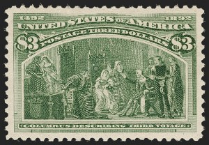 Sale Number 1205, Lot Number 2065, 1893 Columbian Issue$3.00 Columbian (243), $3.00 Columbian (243)