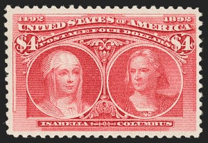 Sale Number 1205, Lot Number 2066, 1893 Columbian Issue$4.00 Columbian (244), $4.00 Columbian (244)