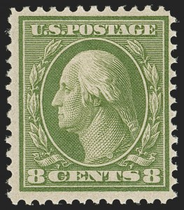 Sale Number 1205, Lot Number 2082, 1908-15 Issues8c Olive Green, Bluish (363), 8c Olive Green, Bluish (363)