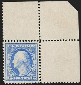 Sale Number 1205, Lot Number 2084, 1908-15 Issues15c Pale Ultramarine, Bluish (366), 15c Pale Ultramarine, Bluish (366)