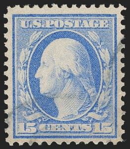 Sale Number 1205, Lot Number 2085, 1908-15 Issues15c Pale Ultramarine, Bluish (366), 15c Pale Ultramarine, Bluish (366)
