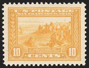 Sale Number 1205, Lot Number 2086, 1908-15 Issues10c Orange Yellow, Panama-Pacific (400), 10c Orange Yellow, Panama-Pacific (400)