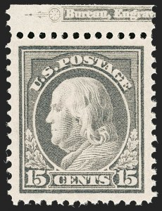 Sale Number 1205, Lot Number 2087, 1908-15 Issues15c Gray (418), 15c Gray (418)