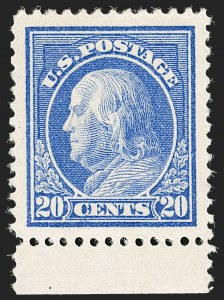 Sale Number 1205, Lot Number 2088, 1908-15 Issues20c Ultramarine (419), 20c Ultramarine (419)