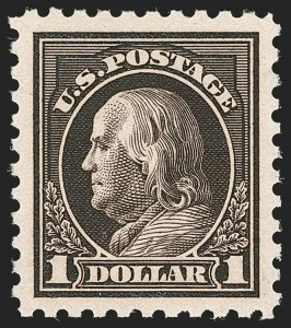 Sale Number 1205, Lot Number 2091, 1908-15 Issues$1.00 Violet Black (460), $1.00 Violet Black (460)