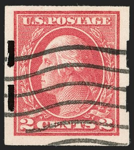 Sale Number 1205, Lot Number 2094, 1916-22 and Later Issues2c Deep Rose, Ty. Ia, Imperforate, Schermack Ty. III Private Perforation (482A), 2c Deep Rose, Ty. Ia, Imperforate, Schermack Ty. III Private Perforation (482A)
