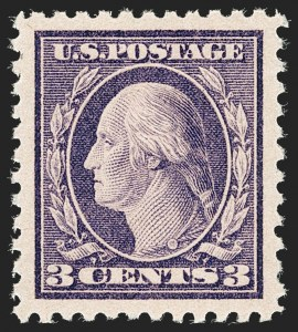 Sale Number 1205, Lot Number 2095, 1916-22 and Later Issues3c Dark Violet, Ty. II (502), 3c Dark Violet, Ty. II (502)