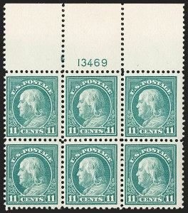 Sale Number 1205, Lot Number 2102, 1916-22 and Later Issues11c Light Green, Perf 10 at Bottom (511a), 11c Light Green, Perf 10 at Bottom (511a)