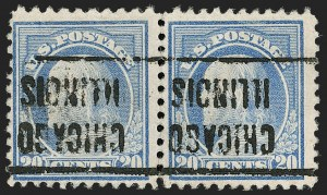 Sale Number 1205, Lot Number 2103, 1916-22 and Later Issues20c Light Ultramarine, Perf 10 at Top (515d), 20c Light Ultramarine, Perf 10 at Top (515d)