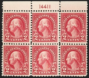 Sale Number 1205, Lot Number 2104, 1916-22 and Later Issues2c Carmine, Perf 10 at Bottom (554d), 2c Carmine, Perf 10 at Bottom (554d)