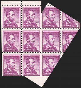 Sale Number 1205, Lot Number 2109, 1916-22 and Later Issues4c Red Violet, Horizontal Pair, Imperforate Between (1036d), 4c Red Violet, Horizontal Pair, Imperforate Between (1036d)