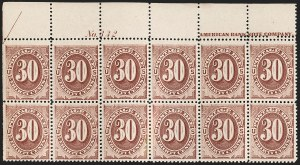 Sale Number 1205, Lot Number 2113, Postage Due and Parcel Post30c Red Brown (J20), 30c Red Brown (J20)