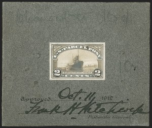 Sale Number 1205, Lot Number 2114, Postage Due and Parcel Post2c Parcel Post, Designer's Model on Thick Gray Cardboard (Q2-E2), 2c Parcel Post, Designer's Model on Thick Gray Cardboard (Q2-E2)
