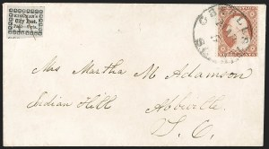Sale Number 1205, Lot Number 2117, Carriers, Local Posts and Independent MailsKingman's City Post, Charleston S.C., 2c Black on Bluish (4LB14), Kingman's City Post, Charleston S.C., 2c Black on Bluish (4LB14)