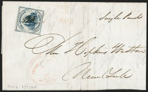 Sale Number 1205, Lot Number 2119, Carriers, Local Posts and Independent MailsAmerican Letter Mail Co., (5c) Blue on Gray (5L3), American Letter Mail Co., (5c) Blue on Gray (5L3)