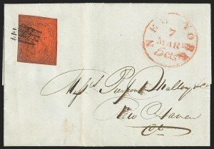 "Sale Number 1205, Lot Number 2125, Carriers, Local Posts and Independent Mails(Cole's) City Despatch Post, New York N.Y., 2c Black on Vermilion Glazed, ""CC"" (40L6), (Cole's) City Despatch Post, New York N.Y., 2c Black on Vermilion Glazed, ""CC"" (40L6)"