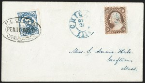 Sale Number 1205, Lot Number 2129, Carriers, Local Posts and Independent Mails, cont.Floyd's Penny Post, Chicago Ill., (1c) Blue (68L1), Floyd's Penny Post, Chicago Ill., (1c) Blue (68L1)