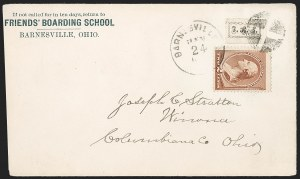 Sale Number 1205, Lot Number 2131, Carriers, Local Posts and Independent Mails, cont.Friends' Boarding School, Barnesville O., (1c) Black (151L1), Friends' Boarding School, Barnesville O., (1c) Black (151L1)
