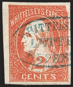 Sale Number 1205, Lot Number 2139, Carriers, Local Posts and Independent Mails, cont.Whittelsey's Express, Chicago Ill., 2c Red (146L1), Whittelsey's Express, Chicago Ill., 2c Red (146L1)