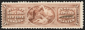 Sale Number 1205, Lot Number 2172, Revenues, Private Die Proprietary StampsSeabury & Johnson, 1c Lake, Watermarked (RS218d), Seabury & Johnson, 1c Lake, Watermarked (RS218d)