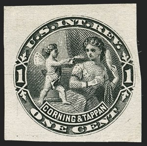 Sale Number 1205, Lot Number 2176, Revenues, Private Die Proprietary StampsCorning & Tappan, 1c Black, Watermarked, Imperforate (RT2d), Corning & Tappan, 1c Black, Watermarked, Imperforate (RT2d)