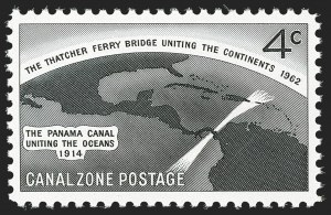Sale Number 1205, Lot Number 2191, Canal Zone and Hawaii1962, 4c Thatcher Ferry Bridge, Silver (Bridge) Omitted (157a), 1962, 4c Thatcher Ferry Bridge, Silver (Bridge) Omitted (157a)