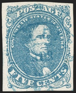 Sale Number 1206, Lot Number 1005, Confederate States: General Issues off Cover5c Blue, Stone 3 (4), 5c Blue, Stone 3 (4)