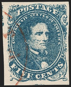 Sale Number 1206, Lot Number 1006, Confederate States: General Issues off Cover5c Dark Blue, Stone 2 (4a), 5c Dark Blue, Stone 2 (4a)