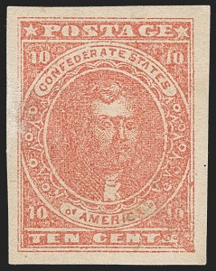 Sale Number 1206, Lot Number 1008, Confederate States: General Issues off Cover10c Rose (5), 10c Rose (5)