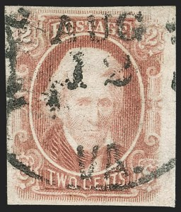 Sale Number 1206, Lot Number 1014, Confederate States: General Issues off Cover2c Brown Red (8), 2c Brown Red (8)