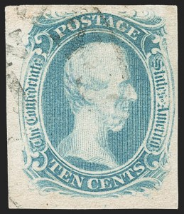 "Sale Number 1206, Lot Number 1016, Confederate States: General Issues off Cover10c Blue, ""TEN"" (9), 10c Blue, ""TEN"" (9)"