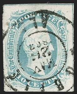 Sale Number 1206, Lot Number 1022, Confederate States: General Issues off Cover10c Blue, Frameline (10), 10c Blue, Frameline (10)