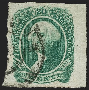 Sale Number 1206, Lot Number 1028, Confederate States: General Issues off Cover20c Green (13), 20c Green (13)