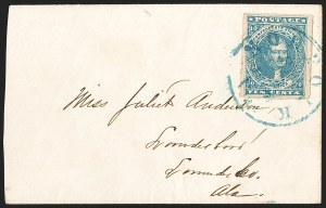 Sale Number 1206, Lot Number 1034, Confederate States: General Issues on Cover10c Dark Blue, Hoyer & Ludwig (2b), 10c Dark Blue, Hoyer & Ludwig (2b)