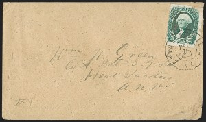 Sale Number 1206, Lot Number 1067, Confederate States: General Issues on Cover20c Green (13), 20c Green (13)