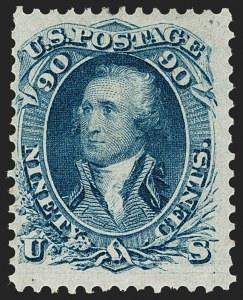 Sale Number 1206, Lot Number 112, 1861-66 Issue (Scott 63-78)90c Blue (72), 90c Blue (72)