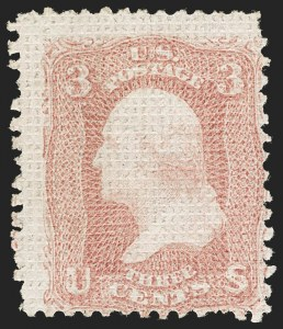 Sale Number 1206, Lot Number 116, 1867-68 Grilled Issue (Scott 79-101)3c Rose, A. Grill (79), 3c Rose, A. Grill (79)