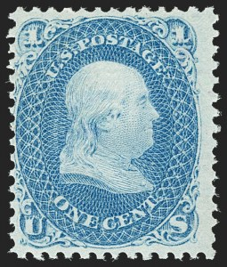 Sale Number 1206, Lot Number 119, 1867-68 Grilled Issue (Scott 79-101)1c Blue, E. Grill (86), 1c Blue, E. Grill (86)