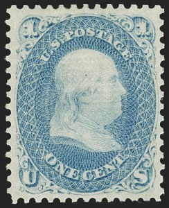 Sale Number 1206, Lot Number 123, 1867-68 Grilled Issue (Scott 79-101)1c Blue, F. Grill (92), 1c Blue, F. Grill (92)